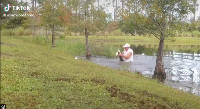 Florida Man Saves Puppy Dragged Into Pond By Alligator